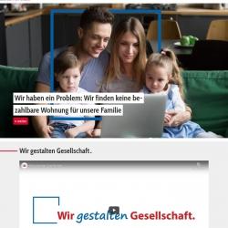 Bildschirmfoto Startseite von PARITÄTische Baden-Württemberg