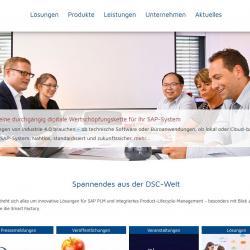 Bildschirmfoto Startseite von DSC