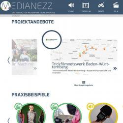 Bildschirmfoto Startseite von Medianezz