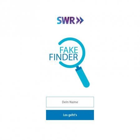 Bildschirmfoto Startseite von SWR Fakefinder