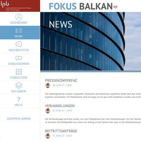 Bildschirmfoto Neuigkeiten von Fokus Balkan