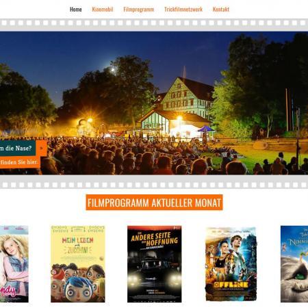 Bildschirmfoto Startseite von Kinomobil