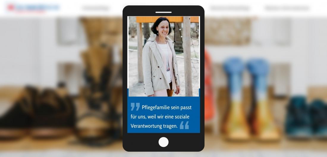 Bildschirmfoto Vollzeitpflege mit Handy von Das passt