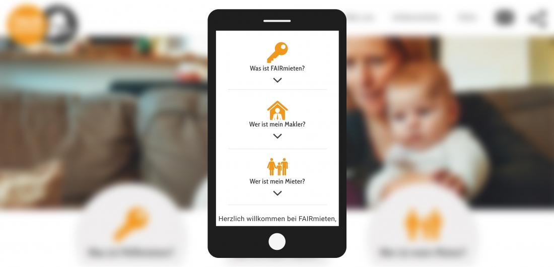 Bildschirmfoto Handy Untermenue von faire Vermieter
