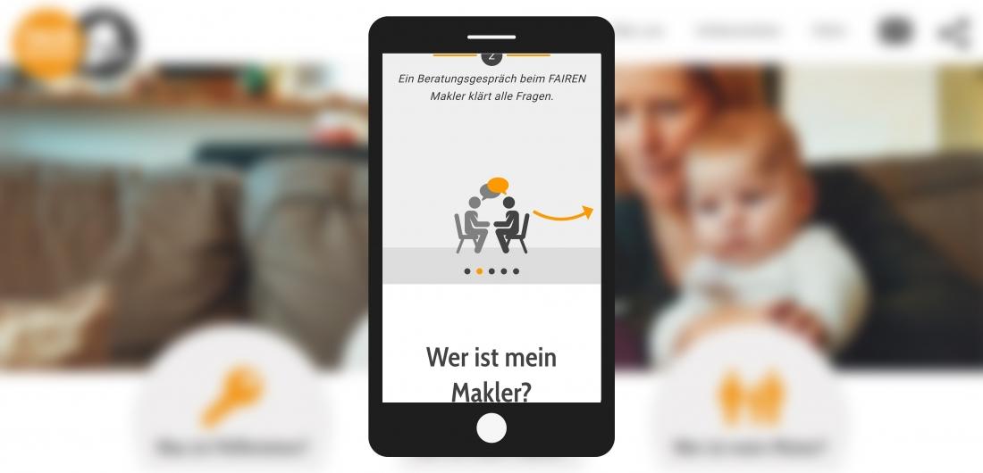 Bildschirmfoto Handy Grafik von faire Vermieter