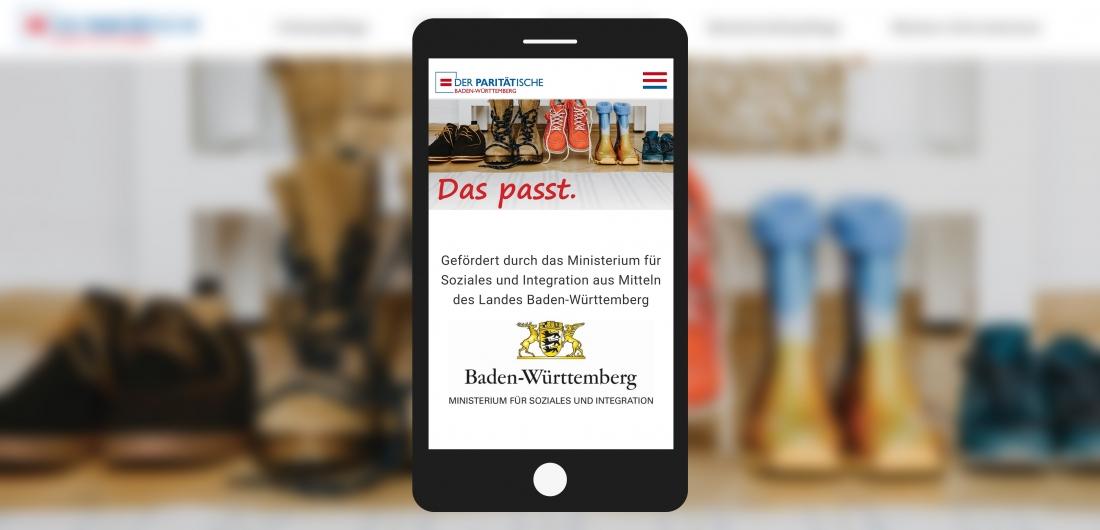 Bildschirmfoto Startbild mit Handy von Das passt