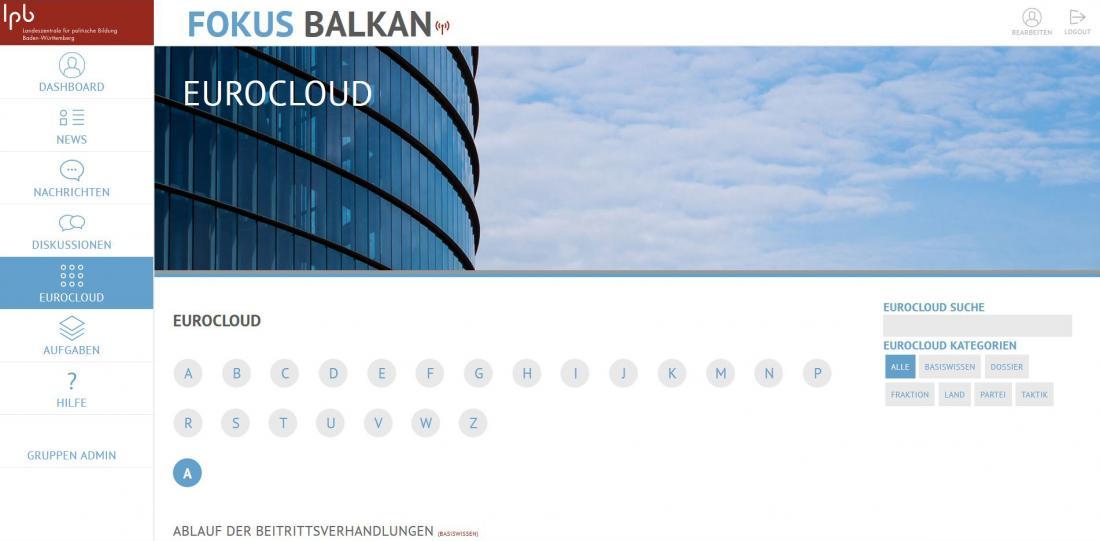 Bildschirmfoto Inhalt von Fokus Balkan