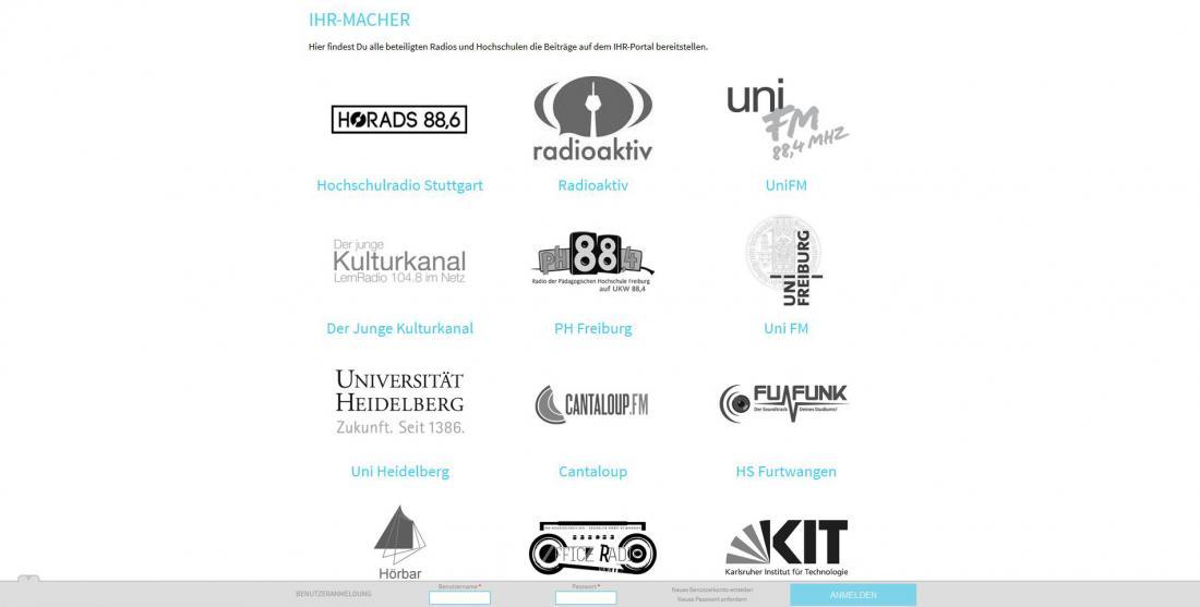 Bildschirmfoto Teilnehmer von IHR