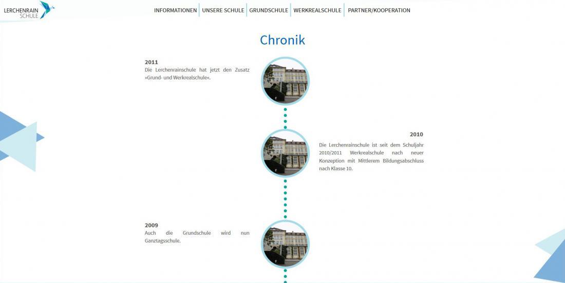 Bildschirmfoto Entwicklung von der Lerchenrainschule