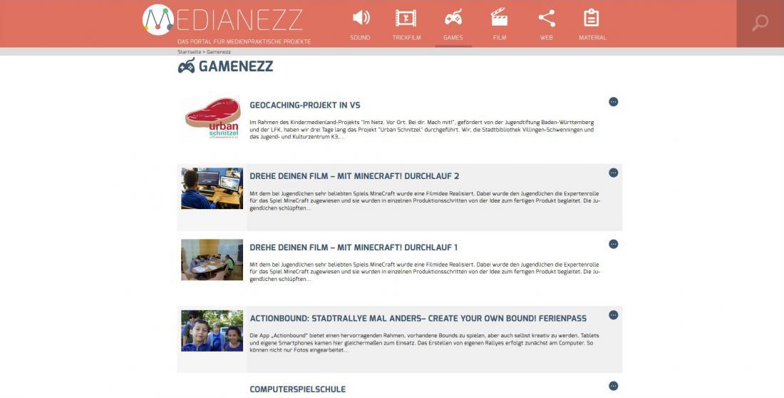 Bildschirmfoto Inhalt von Medianezz