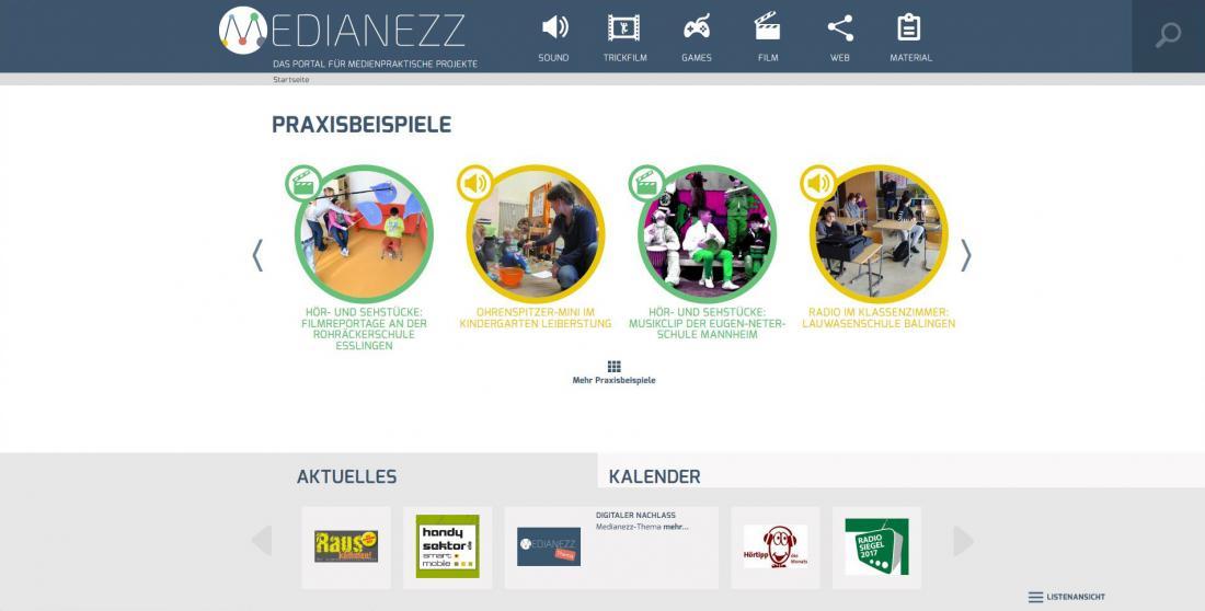 Bildschirmfoto Praxisbeispiele von Medianezz