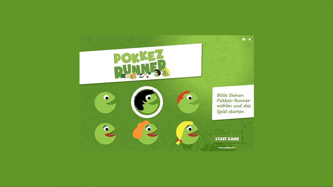 Bildschirmfoto Charakterauswahl von Pokkez Runner