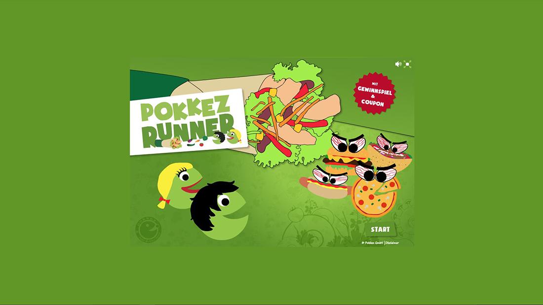 Bildschirmfoto Startseite von Pokkez Runner