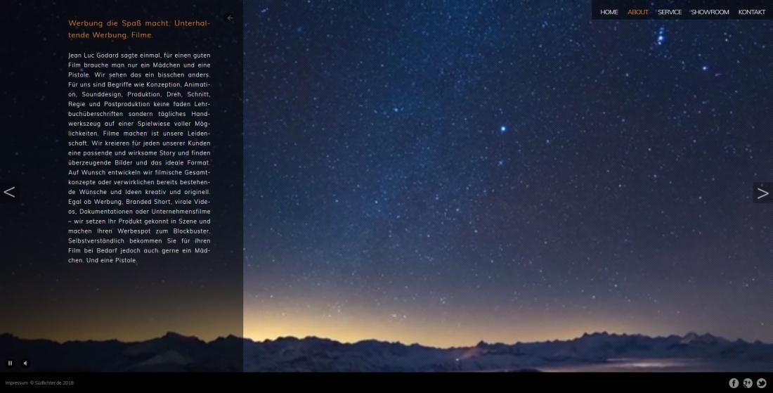Bildschirmfoto Informationen über Südlichter