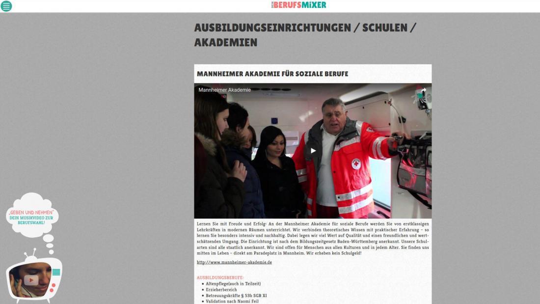 Bildschirmfoto Inhalt von Der Berufsmixer