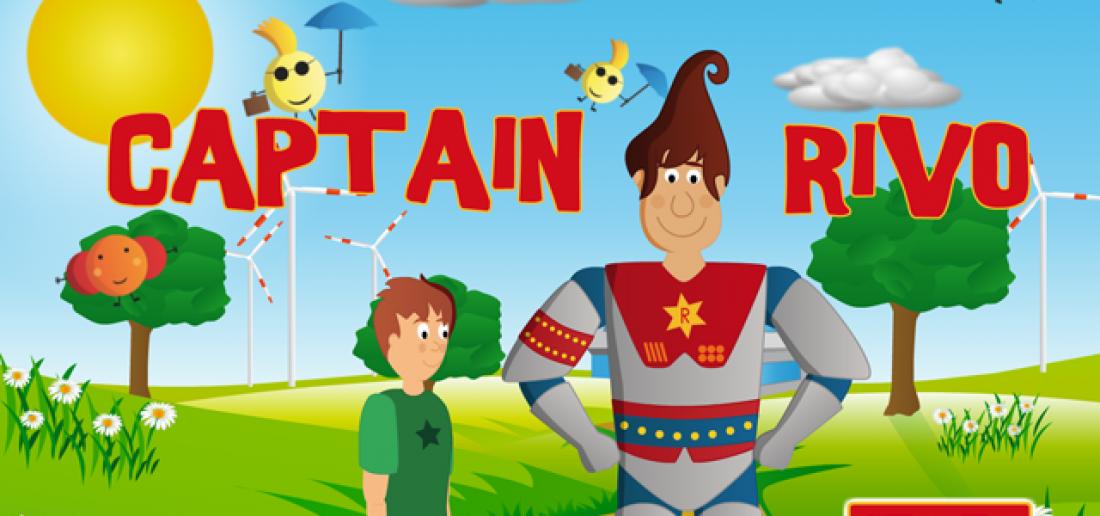 Captain Rivo Start-Screen mit den Protagonisten Tom und Captain Rivo