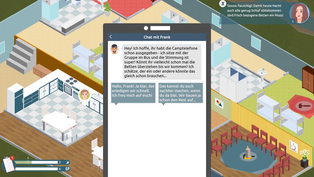 Bildschirmfoto Camptelefon von Teamer_in