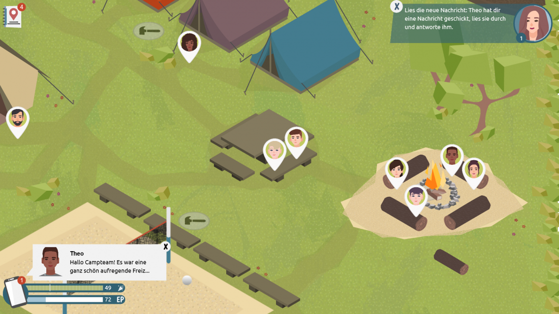 Bildschirmfoto Zeltplatz von Teamer_in